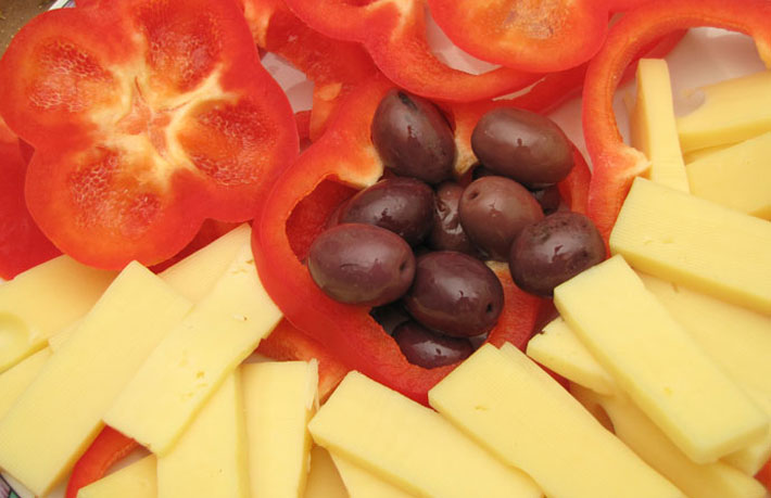 Entrante-de-tomate-con-queso-manchego
