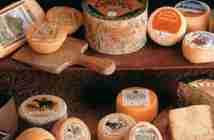 variedades de quesos asturianos expuestos