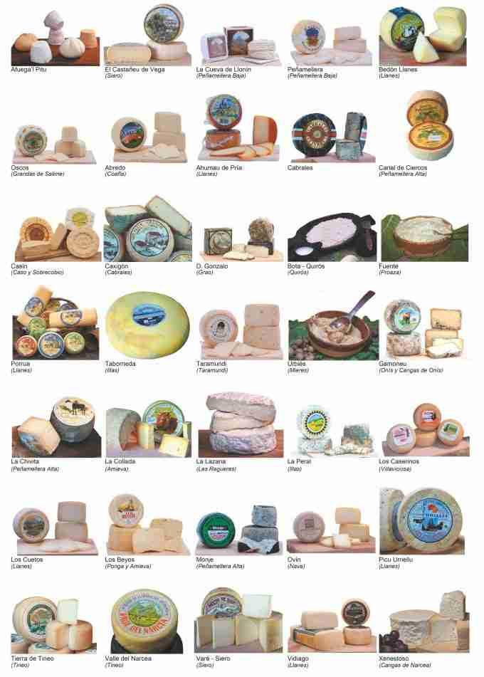 imágenes de los quesos artesanales de asturias más destacados